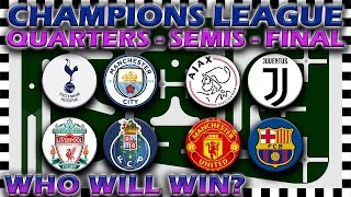 UEFA Champions League 2018/19 Predictions - Quarter Finals to Final - Marble Race Algodoo