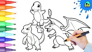 Pokemon Coloring Pages Charmander Evolution I Fun Coloring Videos for Kids