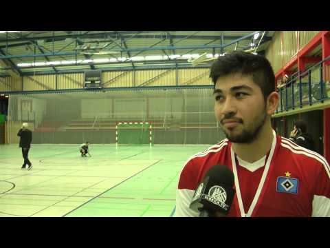 Abdullah Massiullah (Hamburger SV Futsal) und Mirza Begovic (FUTebol de SALao Bremen) - Die Stimmen zum Spiel (Hamburger SV Futsal - FUTebol de SALao Bremen, Finale, Norddeutscher Futsal-Pokal 2015) | ELBKICK.TV