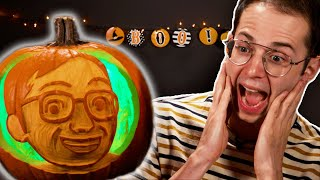 Carving Each Other's Faces On To Pumpkins 🎃