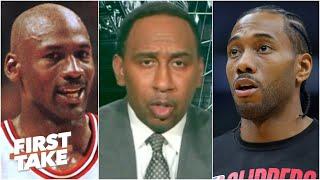 Stephen A. compares Kawhi Leonard to Michael Jordan   First Take