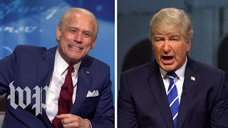 Jim Carrey, Alec Baldwin put SNL spin on Trump and Biden's simultaneous town hall events