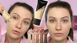 MY NEW FAVORITE FOUNDATION? | Morphe Fluidity Foundation Review + All Day Wear Test | Swatches F1.90