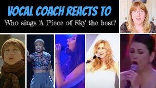Who sings 'A Piece of Sky' the best? Barbra, Cynthia, Morissette, Regine or Lara