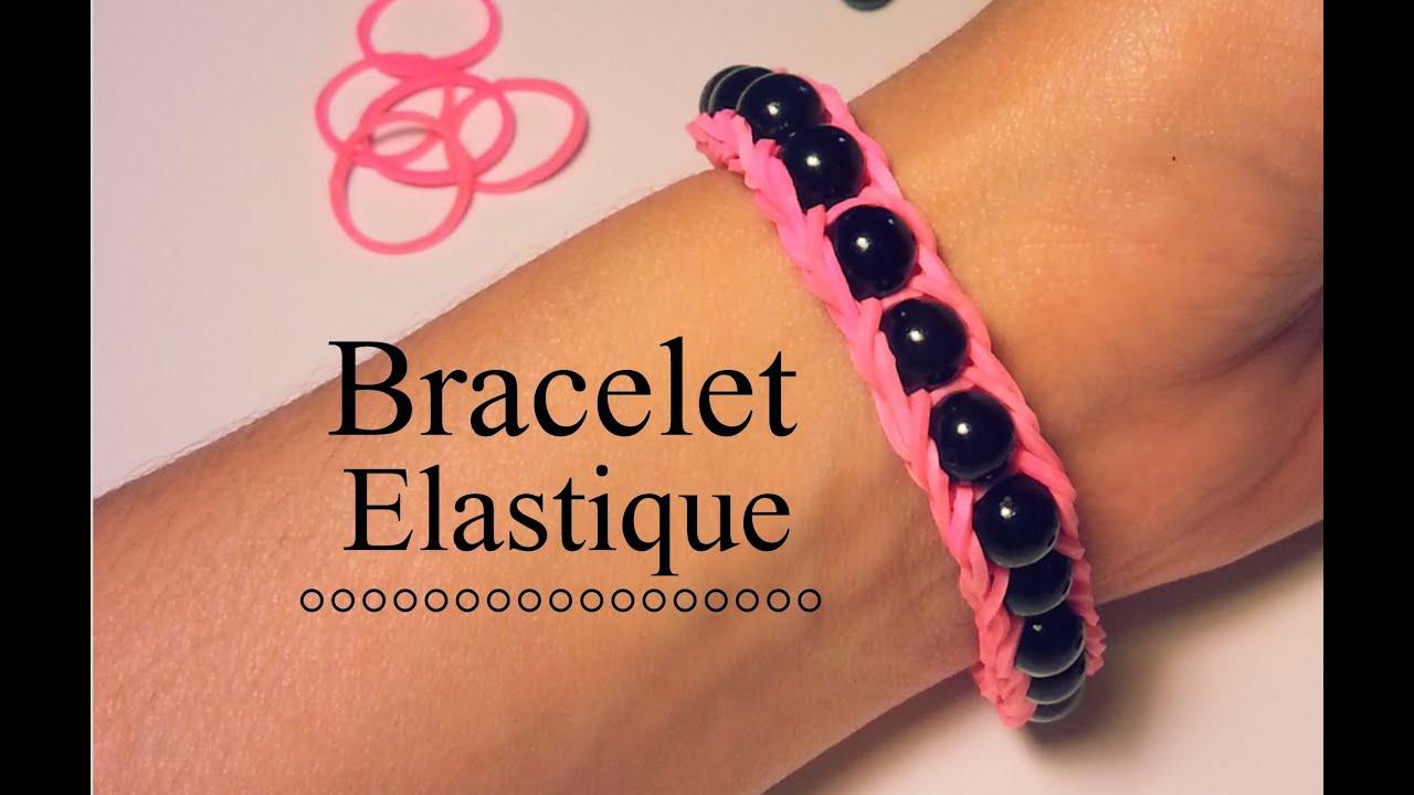 comment faire un bracelet lastique avec des perles youtube. Black Bedroom Furniture Sets. Home Design Ideas