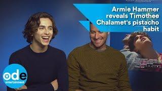 Armie Hammer reveals Timothée Chalamet's pistachio habit