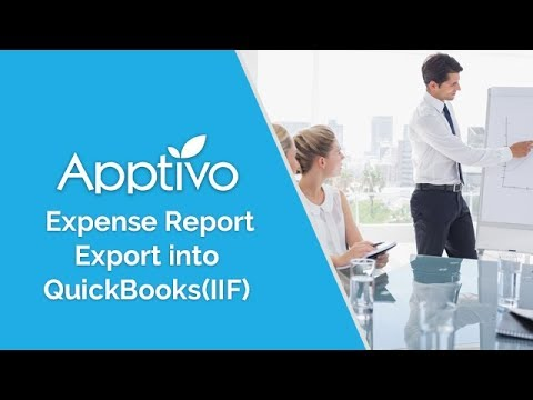 Export IIF in Apptivo Expense Reports App