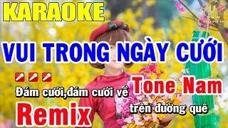 karaoke vui Trong Ngày Cưới Remix Tone Nam Nhạc Sống Cựu Mạnh | Trọng Hiếu