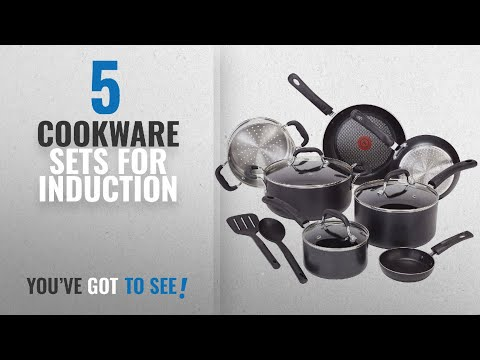 video T-fal Professional Nonstick Cookware Dishwasher Safe Pots and Pans Set