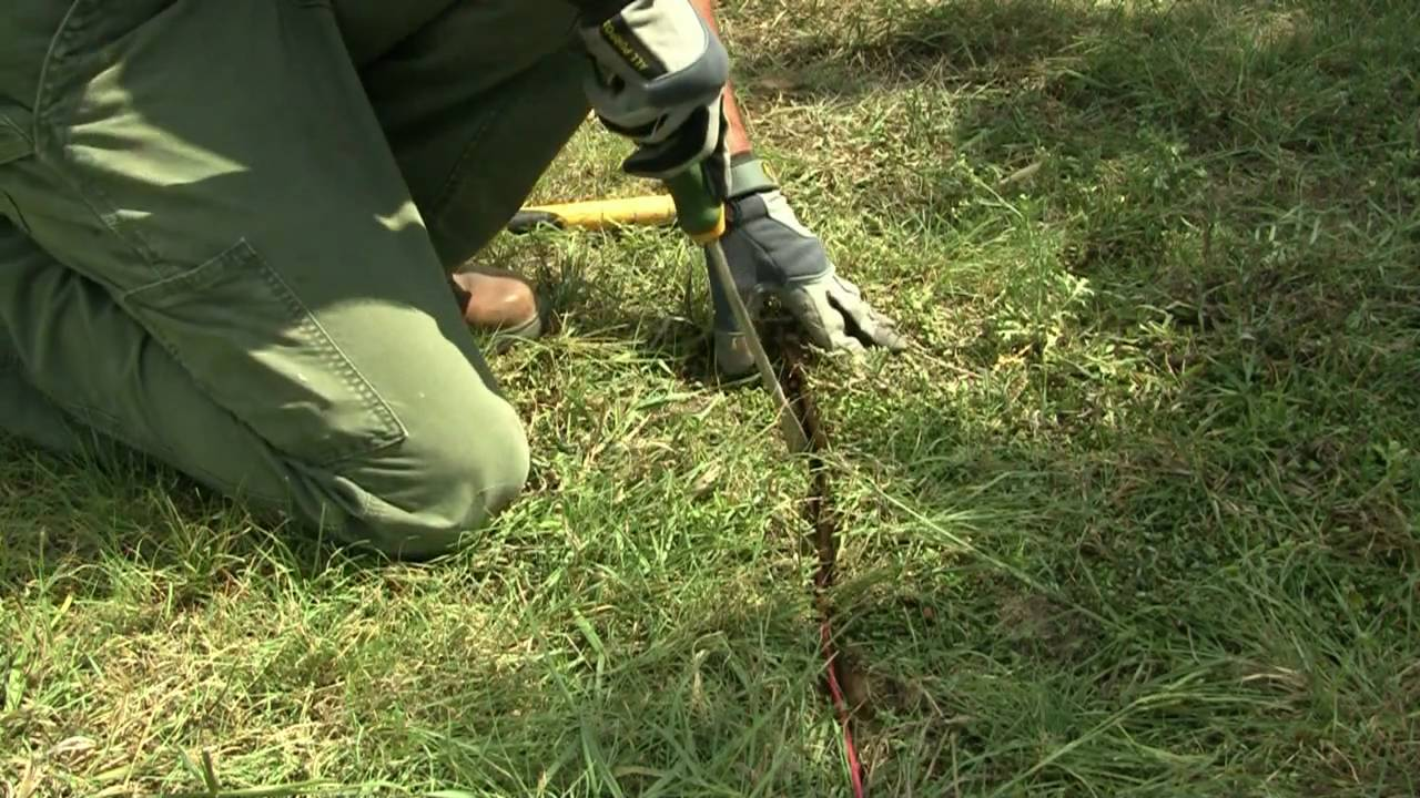 How To Install Invisible Dog Fence Wire Youtube