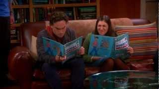 The Big Bang Theory - Penny And Amy Kissing Sheldon