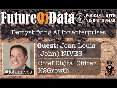 @JohnNives on ways to demystify AI for enterprise #FutureOfData #Podcast