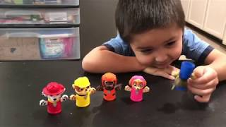 #PawPatrol Surprise Egg hunt. Paw Patrol finger puppet play hide and seek with Arri. Surprise candy