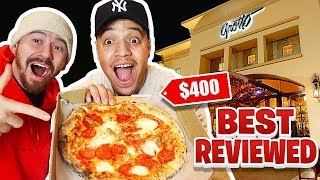 Eating At The BEST Reviewed PIZZA Restaurant! (Over 5 Stars) $400 Slice