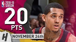 Jordan Clarkson Full Highlights Cavaliers vs Rockets 2018.11.24 - 20 Pts, 4 Ast, 6 Rebounds!