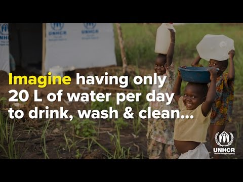 You help UNHCR provide life-saving water