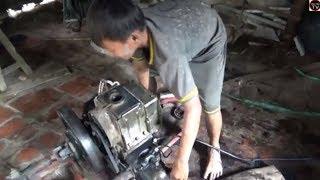 xem thợ cùi bắp sửa máy dầu / r190 engine