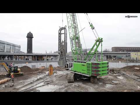 SENNEBOGEN 6130 E-Series - Structural engineering with diaphragm wall grab - Berger Bau - Berlin