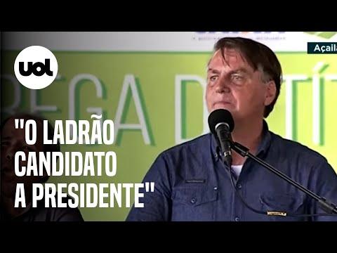 """Bolsonaro diz que 2022 já tem """"ladrão candidato a presidente"""" e """"vagabundo como vice"""""""
