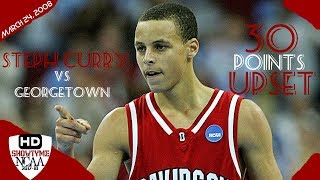 Stephen Curry Davidosn Full Highlights Vs Georgetown 2008.24.03 - 30 Pts 5 Asts, UPSET Georgetown!