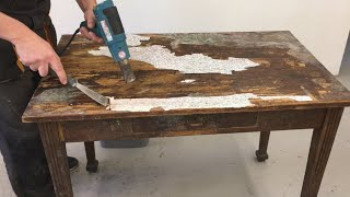How to restore a old table for beginner