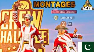 AQEEL GAMING | CLUTCH MONTAGE | CREW CHALLENGE WINNER | PUBG MOBILE