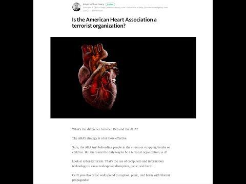 "Live Hangout: ""Is the American Heart Association a Terrorist Organization?"""