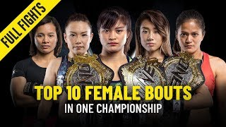 Top 10 Female Bouts | ONE Full Fights
