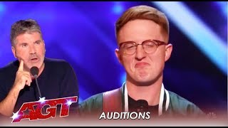 Lamont Landers: Simon Gets ANGRY With Contestant Than Gives Him Second Chance | AGT 2019