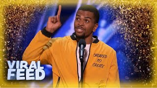 AMAZING Brandon Leak Wins GOLDEN BUZZER After UNIQUE Spoken Word Act | VIRAL FEED