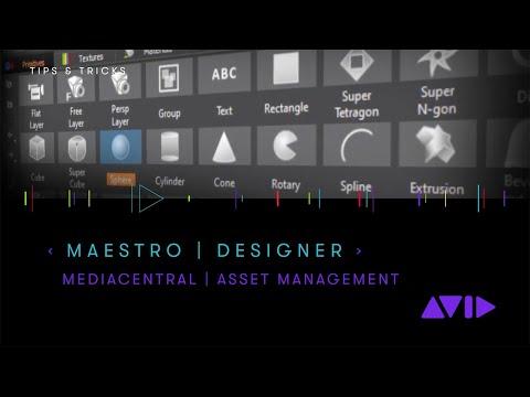 Maestro   Designer and MediaCentral   Asset Management
