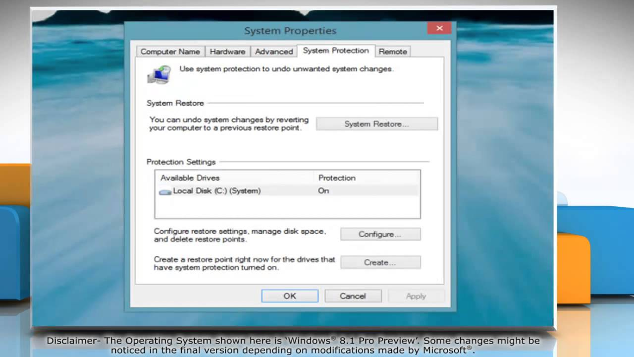 How To Perform A System Restore In Windows U00ae 8 1 Pro