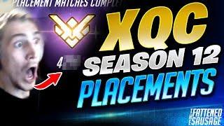 XQC's Season 12 Placement Match! GUESS HIS SR!