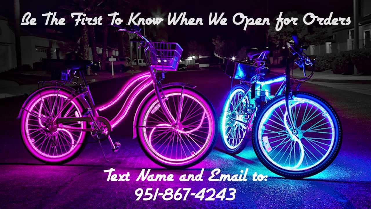 Coolest Glowing Beach Cruisers Glow Candy Bike Lights