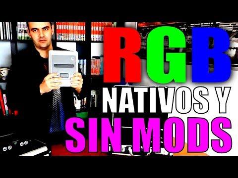 VIDEOCONSOLAS CON RGB NATIVO Y SIN MODIFICACIONES