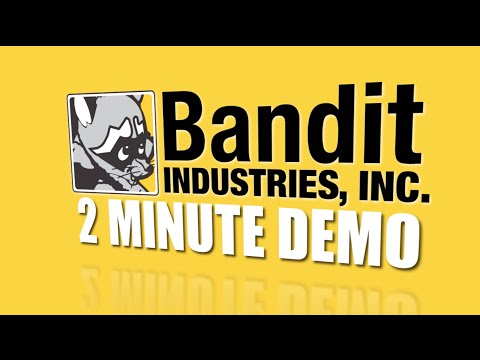 Two Minute Demo: Bandit Model 2590 Whole Tree Chipper 765hp Microchipper Drum