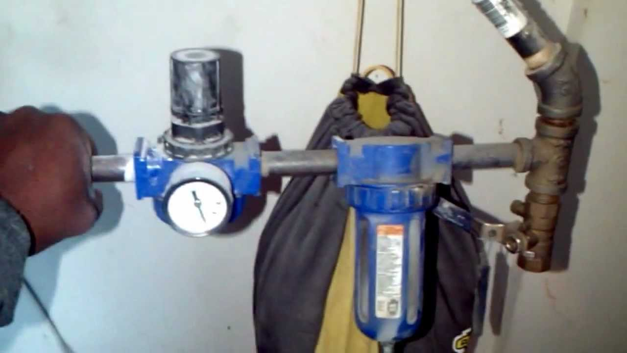How To Set Up Air Compressor Air Piping Youtube