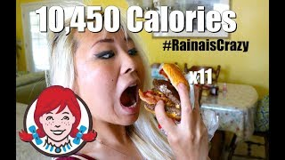 10,000 Calorie Baconator Challenge!! (11 Burgers) | RainaisCrazy