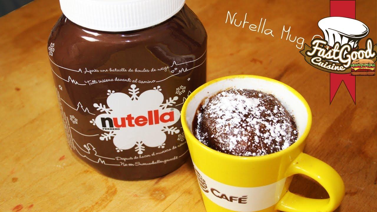 Fast Good Cuisine Mug Cake Nutella