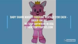 Adult Baby Shark Mascot Costume Rentals!