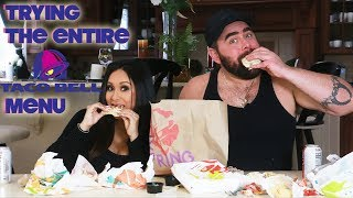 TRYING THE ENTIRE TACO BELL MENU | SNOOKI AND JOEY