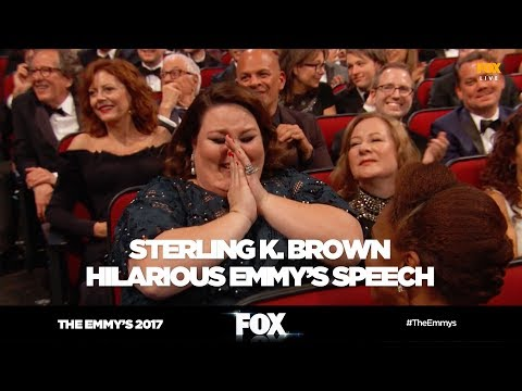 The Emmy's 2017 | Sterling K. Brown hilarious speech gets cut off | FOX