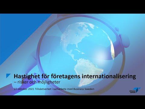 Hastighet för företagens internationalisering – risker och möjligheter