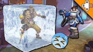 Junkrat PERMANENTLY Frozen! - Overwatch Funny & Epic Moments 317 - Highlights Montage