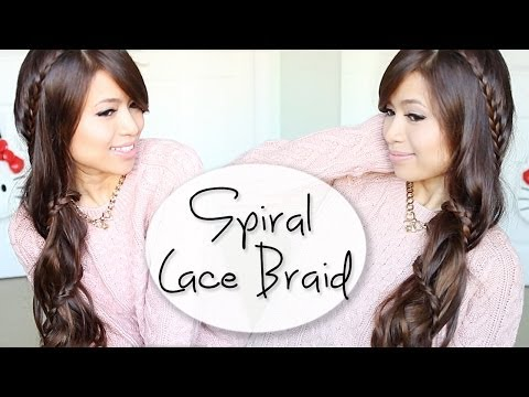 Spiral Lace Braid Hairstyle Hair Tutorial Ft. Bellami Hair Extensions - Smashpipe Style
