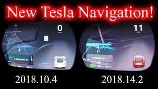 New Tesla Navigation! Side by Side with Old Version. 2018.14.2.
