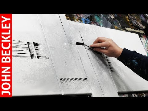 Abstract Painting Demonstration In Acrylics | Néron