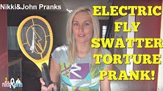Electric Fly Swatte Prank ON BOYFRIEND
