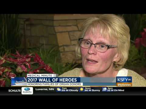 Wall of Heroes honors families of organ donors - Medical Minute