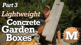 Back To Basic Air Crete Pour, DIY Raised Garden Bed, LIKE A